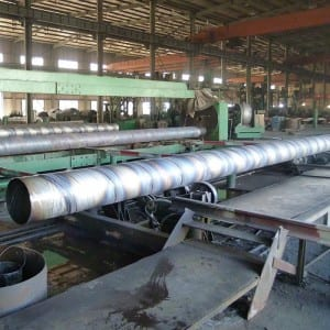 High reputation Round Black Spiral Pipe -